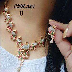 New Bollywood style 2 pieces jewelry set